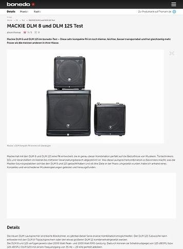 Bonedo.de MACKIE DLM 8 und DLM 12S Test