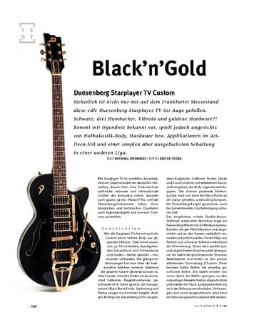 Gitarre & Bass Duesenberg Starplayer TV Custom, E-Gitarre