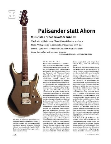 Gitarre & Bass Music Man Steve Lukather Luke III, E-Gitarre