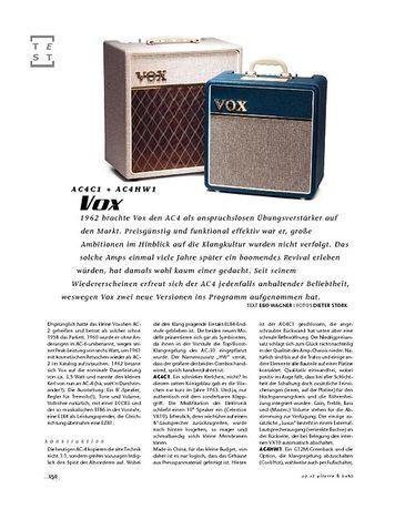 Gitarre & Bass Vox AC4C1 + AC4HW1, Tube-Amps