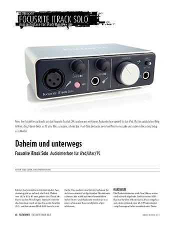 Sound & Recording Focusrite iTrack Solo - Audiointerface für iPad, Mac und PC