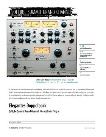 Sound & Recording Softube Summit Grand Channel − EQ- und Kompressor-Plug-ins