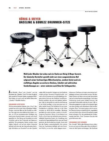 Sticks K&M Baseline und Gomezz Drummer-Sitze