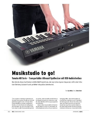 Keyboards Yamaha MX-Serie – Transportabler Allround-Synthesizer mit USB-Audiointerface