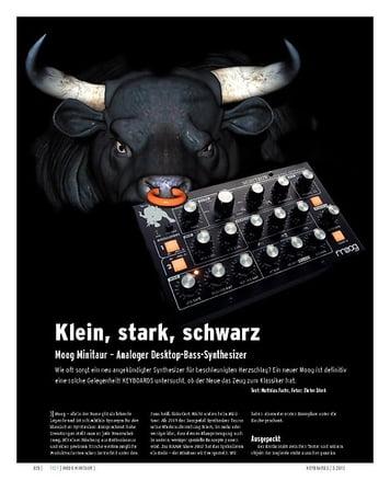 Keyboards Moog Minitaur – Analoger Desktop-Bass-Synthesizer