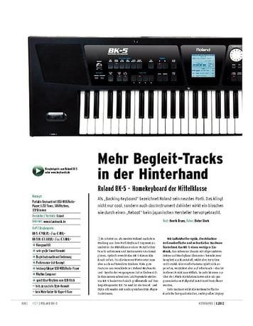 Keyboards Roland BK-5 – Arranger-Homekeyboard der Mittelklasse