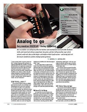 Keyboards Korg monotron DUO/DELAY – Analog-Synthesizer