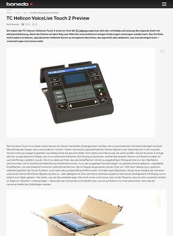 Bonedo.de TC Helicon VoiceLive Touch 2 Preview