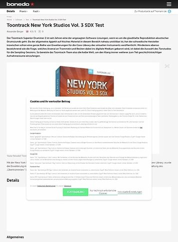 Bonedo.de Toontrack New York Studios Vol. 3 SDX Test