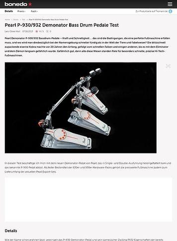 Bonedo.de Pearl Demonator Drumpedale Test