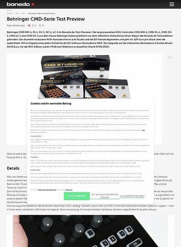 Bonedo.de Behringer CMD-Serie Test Preview