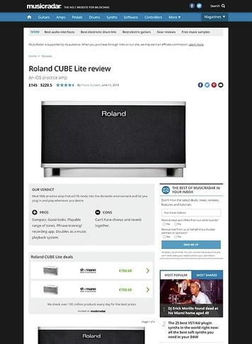 MusicRadar.com Roland CUBE Lite