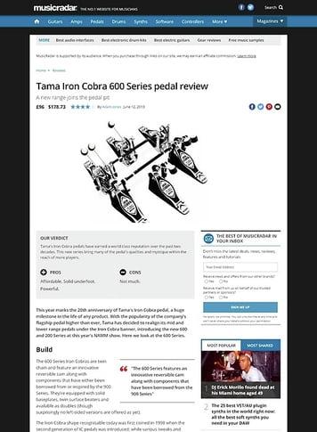 MusicRadar.com Tama Iron Cobra 600 Series pedal