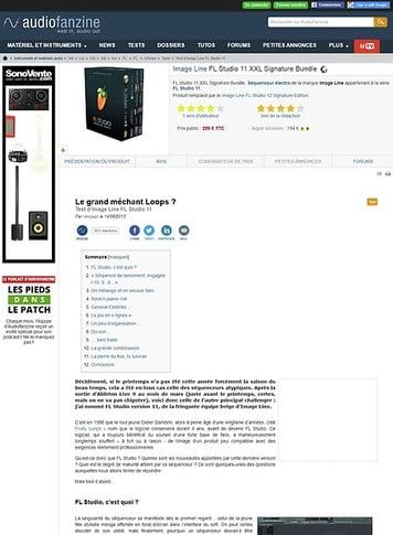 Audiofanzine.com Image Line FL Studio 11 XXL Signature Bundle