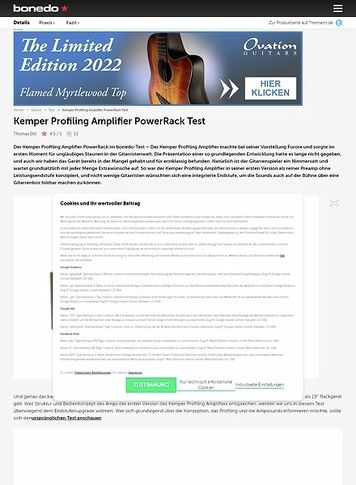 Bonedo.de Kemper Profiling Amplifier PowerRack Test