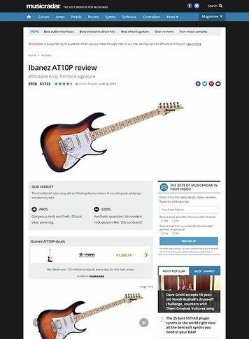 MusicRadar.com Ibanez AT10P