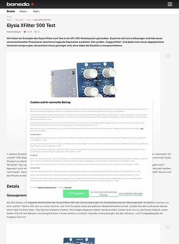 Bonedo.de Elysia XFilter 500 Test