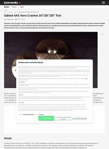 Bonedo.de Sabian Aero Crashes Test