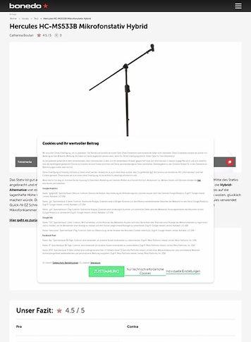 Bonedo.de Hercules HC-MS533B Mikrofonstativ Hybrid