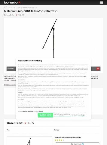Bonedo.de Millenium MS-2001 Mikrofonstativ Test