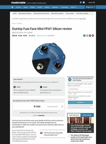 MusicRadar.com Dunlop Fuzz Face Mini FFM1 Silicon