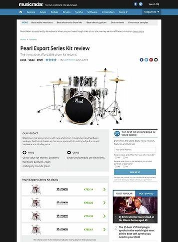 MusicRadar.com Pearl Export Series Kit