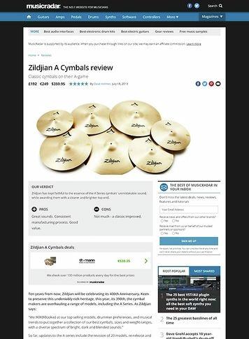 MusicRadar.com Zildjian A Cymbals