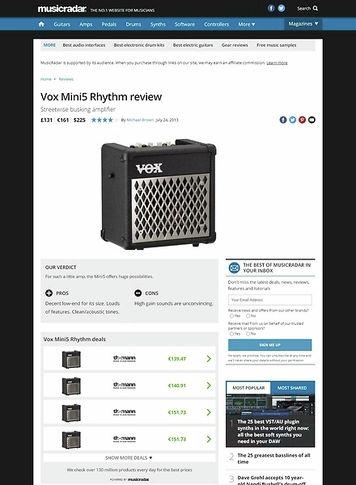 MusicRadar.com Vox Mini5 Rhythm