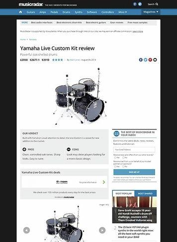 MusicRadar.com Yamaha Live Custom Kit