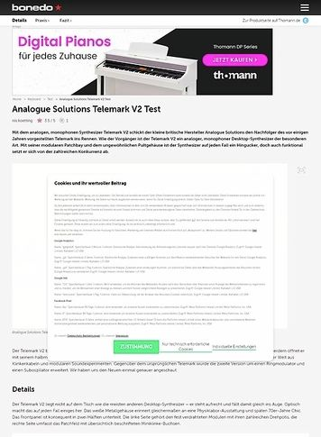 Bonedo.de Analogue Solutions Telemark V2 Test