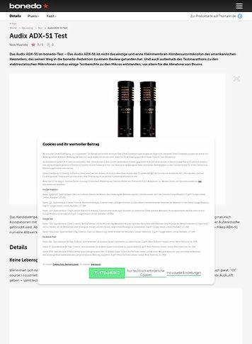 Bonedo.de Audix ADX-51 Test
