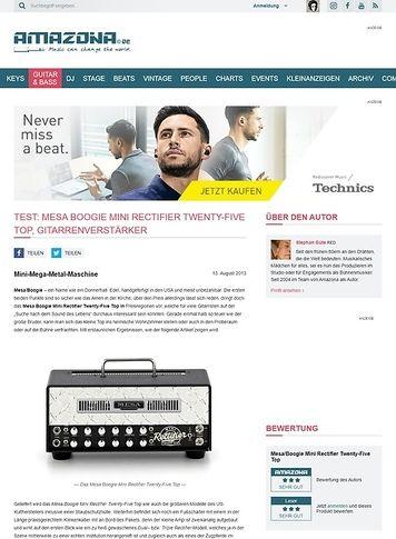 Amazona.de Test: Mesa Boogie Mini Rectifier Twenty-Five Top, Gitarrenverstärker