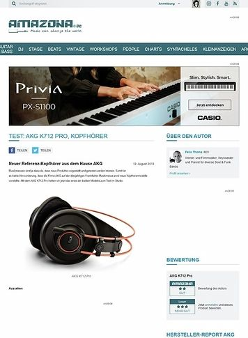 Amazona.de Test: AKG K712 Pro, Kopfhörer
