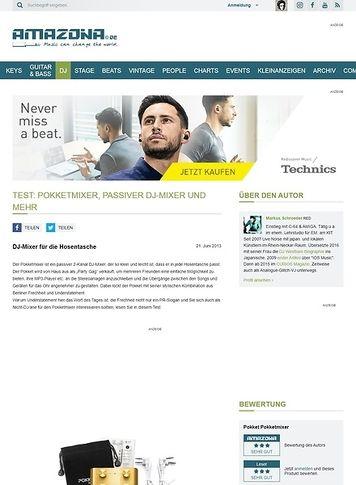 Amazona.de Test: Pokketmixer, passiver DJ-Mixer und mehr