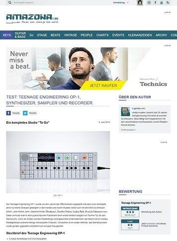Amazona.de Test: Teenage Engineering OP-1, Synthesizer, Sampler und Recorder
