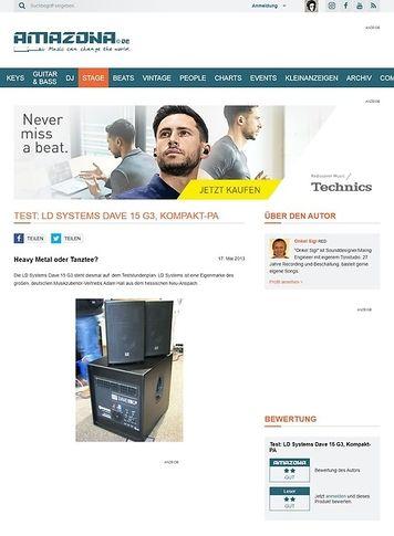 Amazona.de Test: LD Systems Dave 15 G3, Kompakt-PA