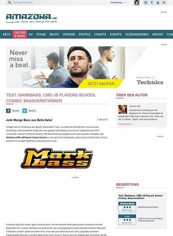 Amazona.de Test: Markbass, CMD JB Players School Combo, Bassverstärker