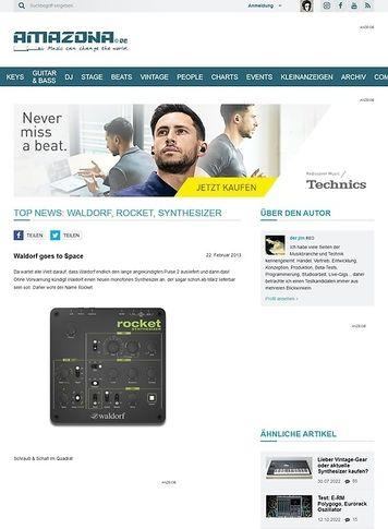 Amazona.de Top News: Waldorf, Rocket, Synthesizer