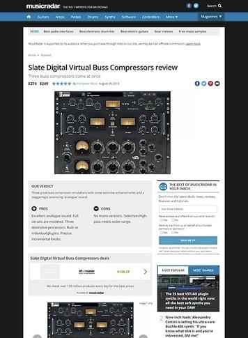 MusicRadar.com Slate Digital Virtual Buss Compressors