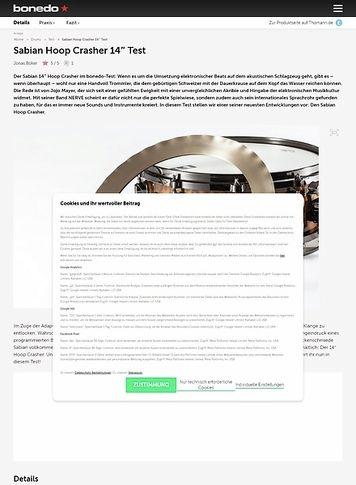 Bonedo.de Sabian Hoop Crasher Test