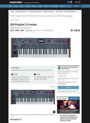MusicRadar.com DSI Prophet 12