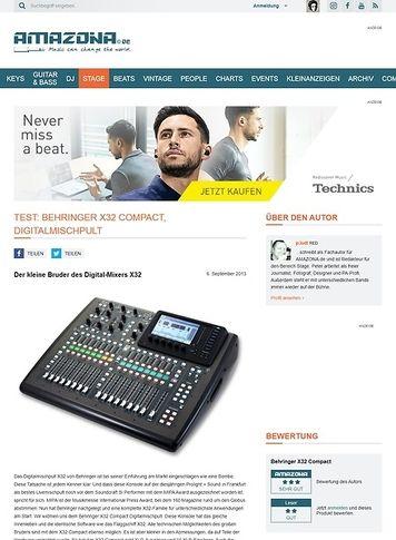Amazona.de Test: Behringer X32 Compact, Digitalmischpult
