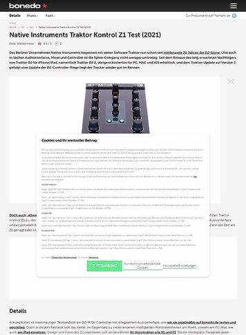 Bonedo.de Native Instruments Traktor Kontrol Z1 Test