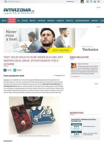 Amazona.de Test: Solid Gold FX Surf Rider DLX und Jeff Waters Devil Drive, Effektgeräte für E-Gitarre