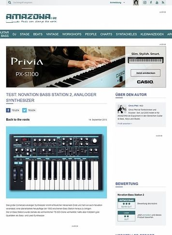 Amazona.de Test: Novation Bass Station 2, analoger Synthesizer