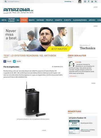 Amazona.de Test: LD Systems Roadman 102, Aktivbox