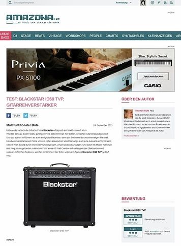 Amazona.de Test: Blackstar ID60 TVP, Gitarrenverstärker