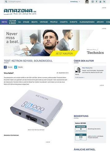 Amazona.de Test: Ketron SD1000, Soundmodul