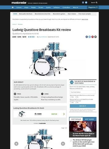 MusicRadar.com Ludwig Questlove Breakbeats Kit