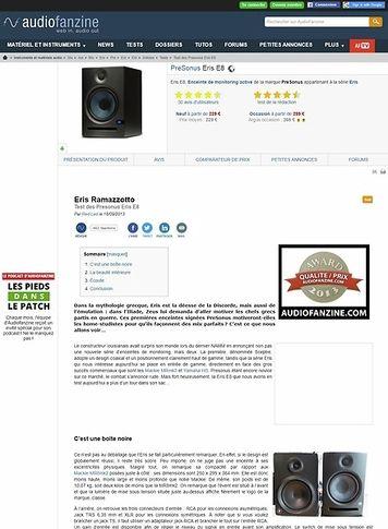 Audiofanzine.com PreSonus Eris E8